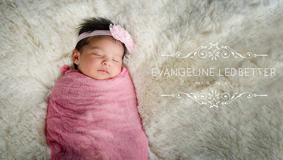 Modesto Newborn Portraits | Newborn wrapped in pink sleeping