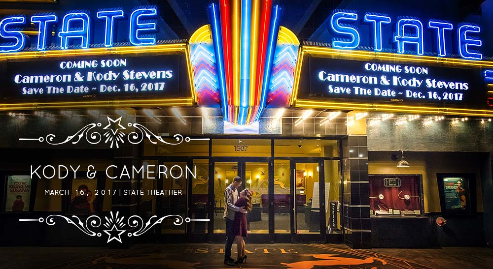 State Theater Engagement Portraits